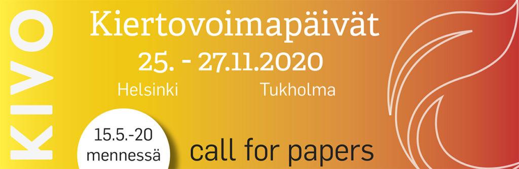 Call for Papers Kiertovoimapäivät